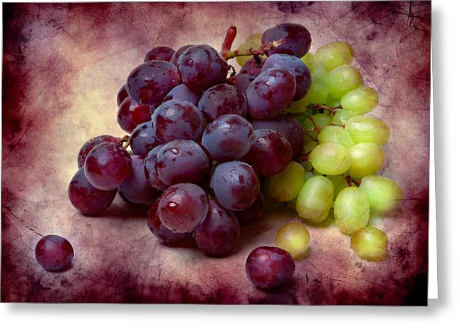 Grapes Red And Green Greeting Card
