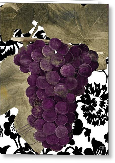Grapes Suzette Greeting Card by Mindy Sommers