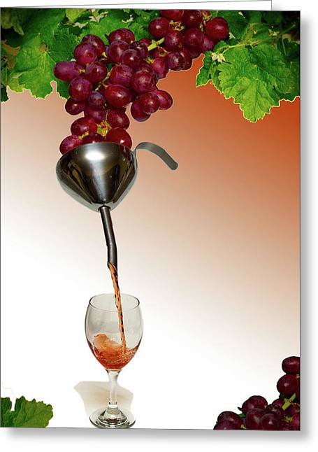 Grapes To Wine Greeting Card