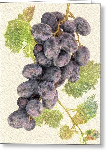 Luscious Grapes Greeting Card
