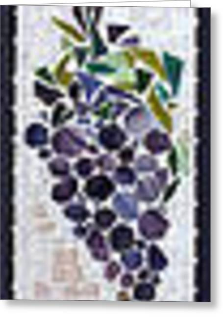 Grape Vineyard Glass Greeting Cards - GrapeVine Greeting Card by Diane Morizio