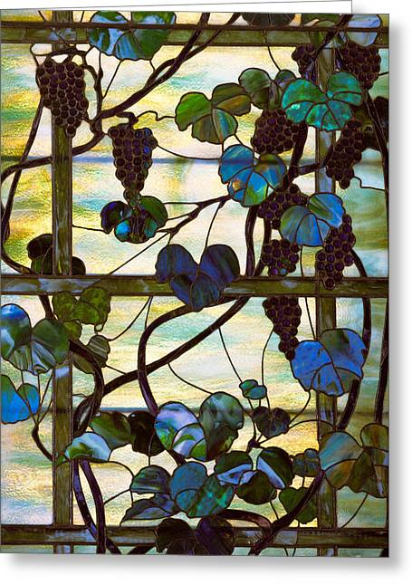 Grapevine Greeting Card by Louis Comfort Tiffany