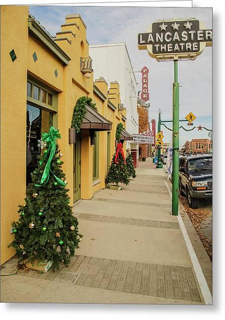 Grapevine Texas At Christmas Greeting Card