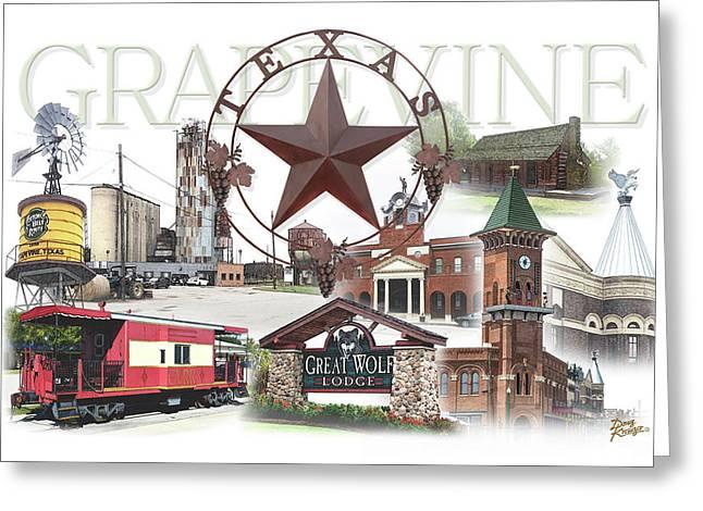 Grapevine Texas Greeting Card