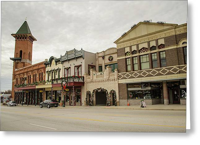 Grapevine Texas Downtown Greeting Card