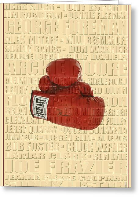 Graphic Ali Greeting Card by Andrew Fare