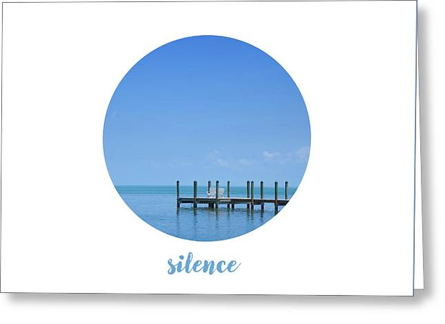Graphic Art Silence - Oceanview Greeting Card by Melanie Viola