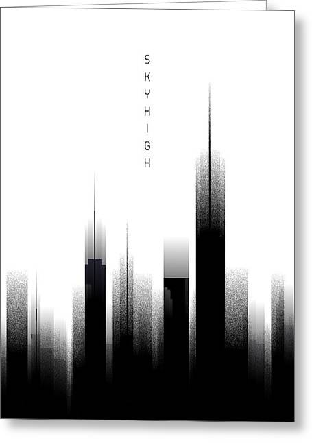 Graphic Art Skyhigh - White Greeting Card