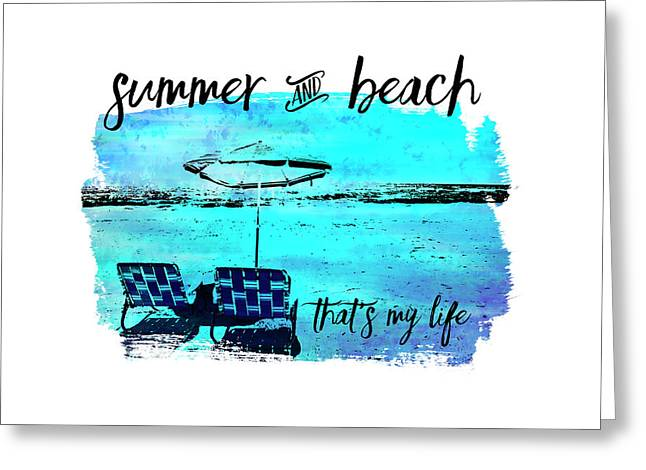 Graphic Art Summer And Beach Greeting Card