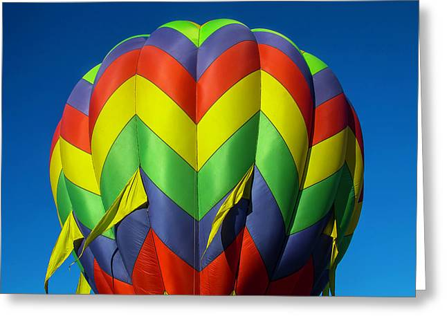 Graphic Hot Air Balloon Greeting Card by Garry Gay