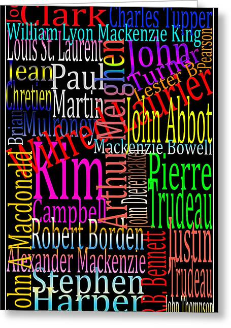 Graphic Prime Ministers Greeting Card