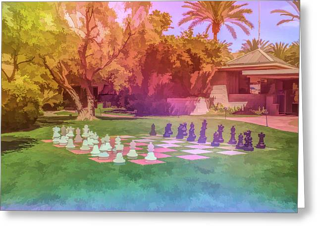 Greeting Card featuring the photograph Graphic Rainbow Chess At The Biltmore by Aimee L Maher Photography and Art Visit ALMGallerydotcom