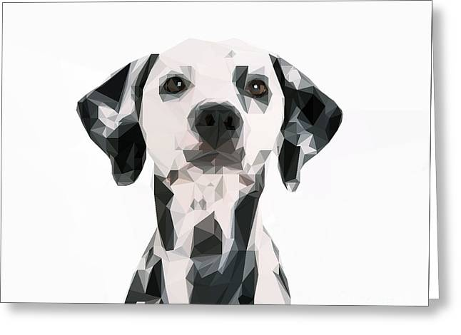 Graphical Dog Greeting Card by Varun Tandon