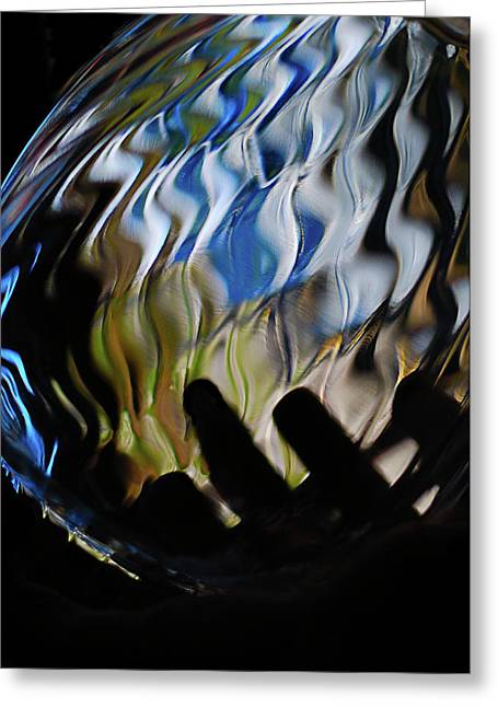 Greeting Card featuring the photograph Grasping At Curves by Susan Capuano