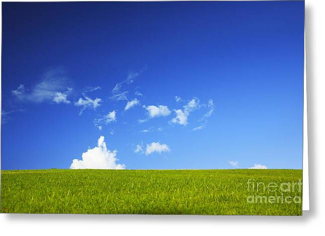 Grass Cloud Sky Greeting Card by Brandon Tabiolo - Printscapes