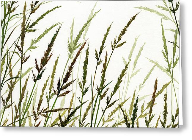 Greeting Card featuring the painting Grass Design by James Williamson