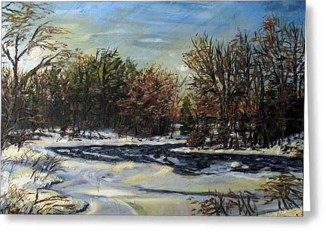 Grasse River In January Greeting Card
