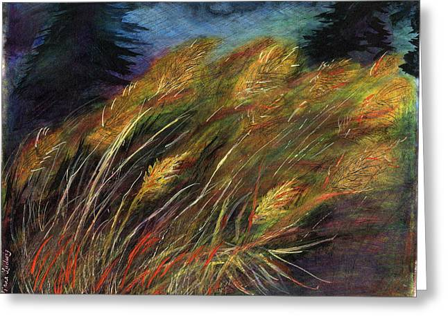 Grasses Greeting Card by Diana Ludwig