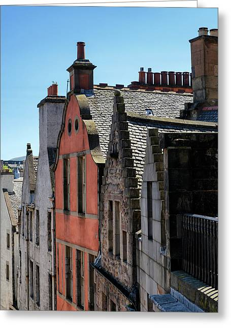 Greeting Card featuring the photograph Grassmarket In Edinburgh, Scotland by Jeremy Lavender Photography