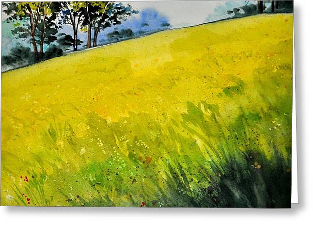 Grassy Hill Side Greeting Card