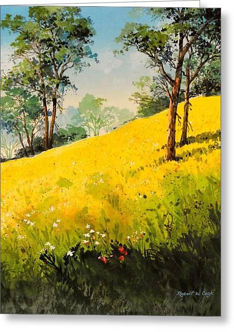 Grassy Hillside II Greeting Card