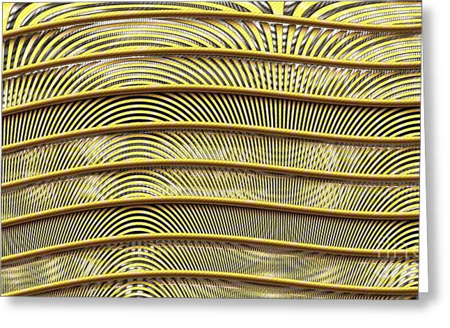 Grate Of Yellow Greeting Card by Ron Bissett