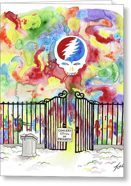 Grateful Dead Concert In Heaven Greeting Card