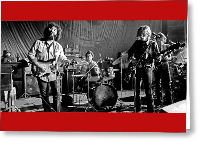 Grateful Dead In Concert - San Francisco 1969 Greeting Card by Dan Haraga