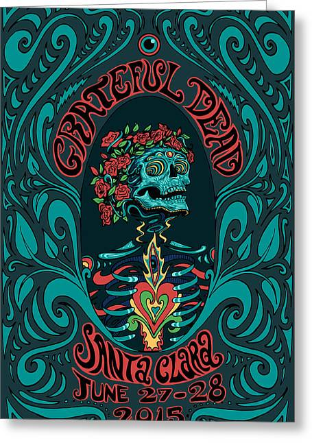 Grateful Dead Santa Clara 2015 Greeting Card