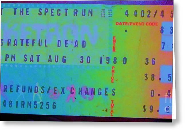 Grateful Dead - Ticket Stub Greeting Card
