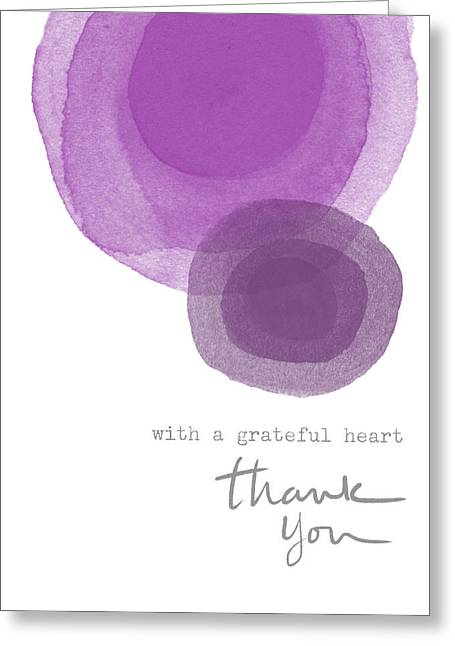 Grateful Heart Thank You- Art By Linda Woods Greeting Card by Linda Woods