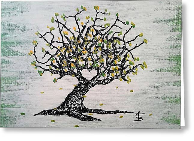 Grateful Love Tree Greeting Card