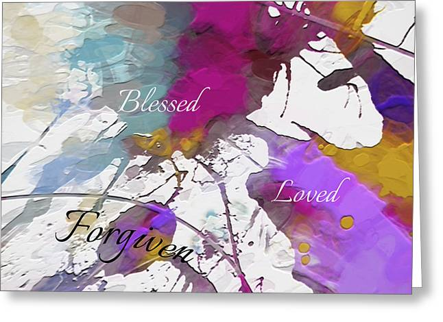 Greeting Card featuring the digital art Grateful To Be by Margie Chapman