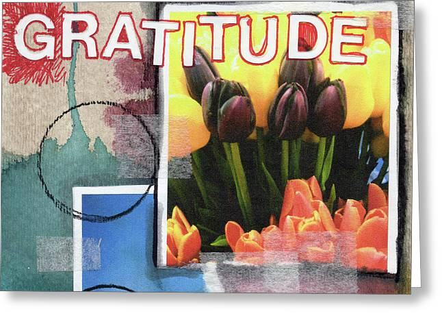 Gratitude- Art By Linda Woods Greeting Card by Linda Woods