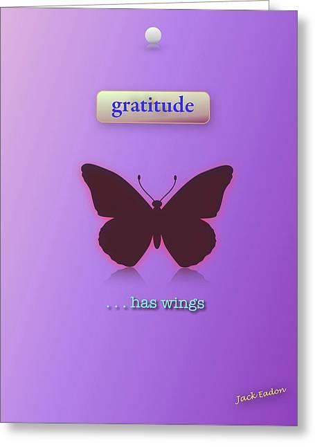 Gratitude Has Wings Greeting Card by Jack Eadon