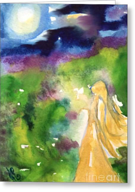 Greeting Card featuring the painting Gratitude by Julie Engelhardt