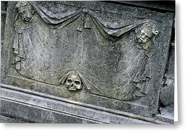 Grave Business Greeting Card by Robert Joseph