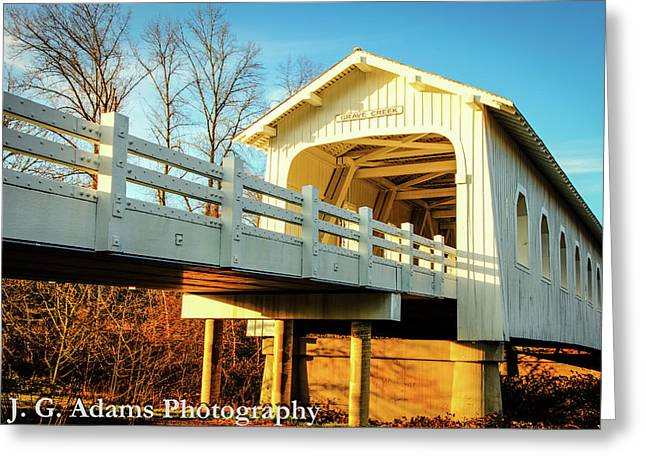 Grave Creek Covered Bridge Greeting Card