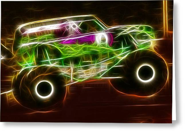 Grave Digger Monster Truck Greeting Card by Paul Van Scott