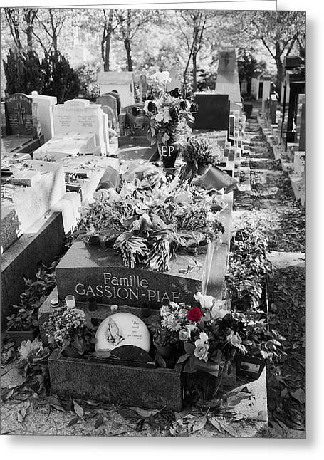 Grave Of Edith Piaf  Greeting Card by Hugh Smith