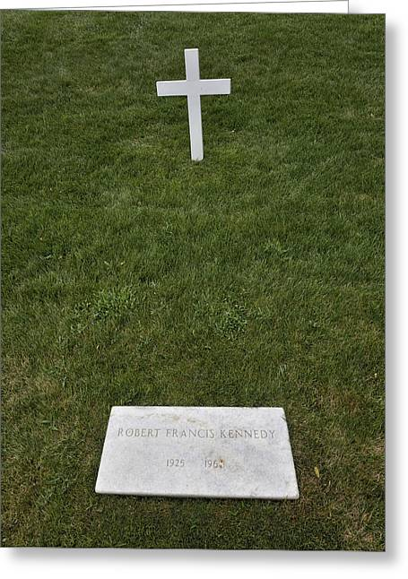 Grave Of Robert F Kennedy Greeting Card