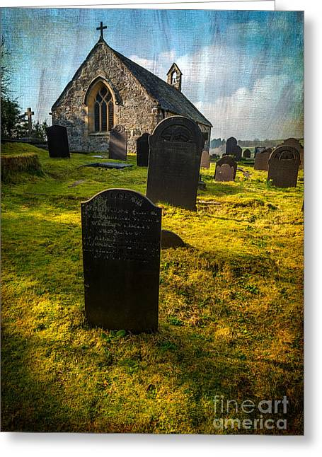 Grave Yard Greeting Card by Adrian Evans