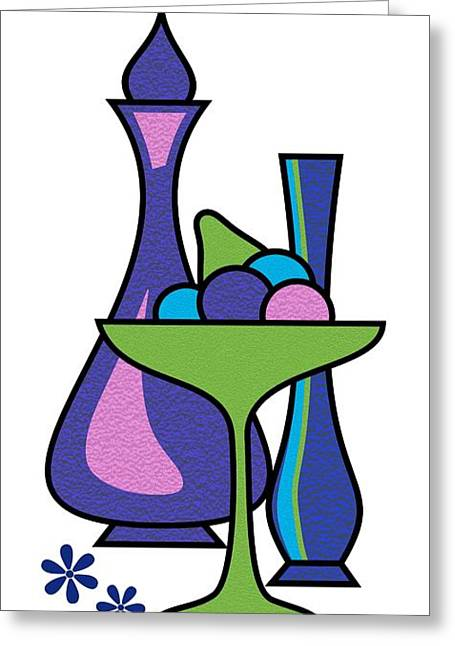 Gravel Art Fruit Compote Greeting Card