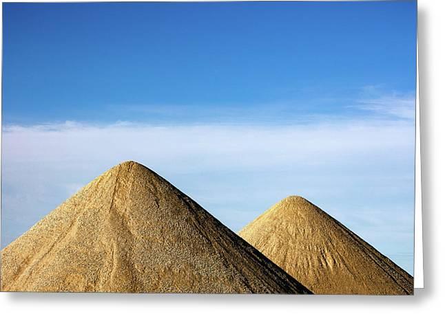 Gravel Pyramids Greeting Card