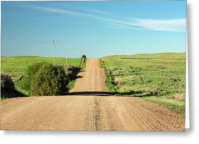 Gravel Rock Road Greeting Card by Todd Klassy