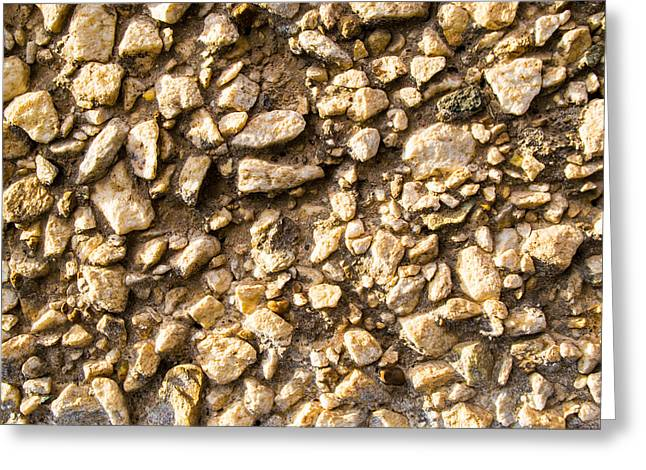 Gravel Stones On A Wall Greeting Card