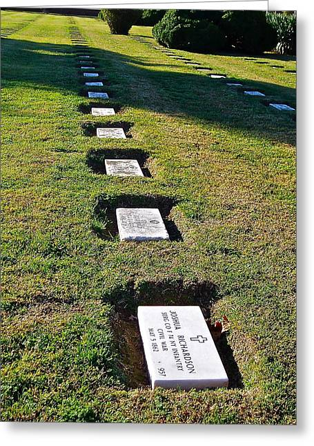 Graves In Formation Greeting Card by E Robert Dee