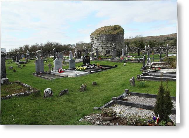 Greeting Card featuring the photograph Graveyard Antigua Iglesia De Killinaboy Ireland by Marie Leslie