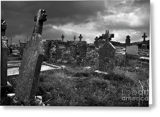 Graveyard At The Seven Churches Greeting Card