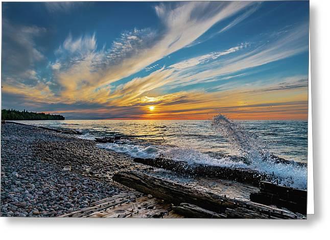 Graveyard Coast Sunset Greeting Card